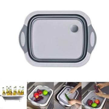 Collapsible Cutting Board with Colander