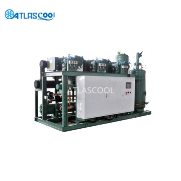 Industrial refrigeration unit and refrigeration systems