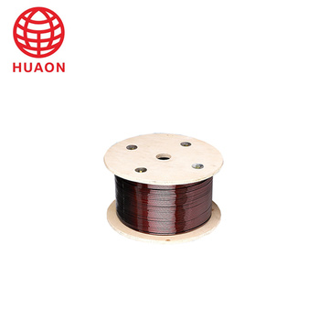 Aluminium flat wire for motor and transformer