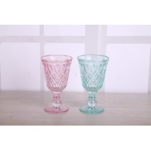 Hot Selling Spraying Color Drinking Glass Juice Cup With Stem