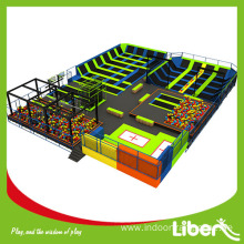 Launch indoor large elevation trampoline park