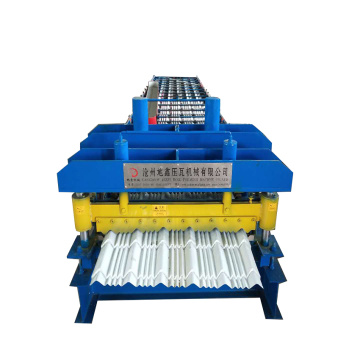 New glazed tile roofing machine