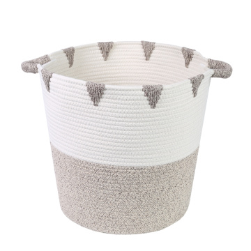 Wholesale Cotton Rope Storage Basket Bin New Custom Design