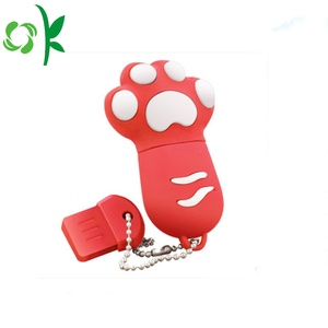 Cat-claw Silicone U Disk Cover USB Dust Case
