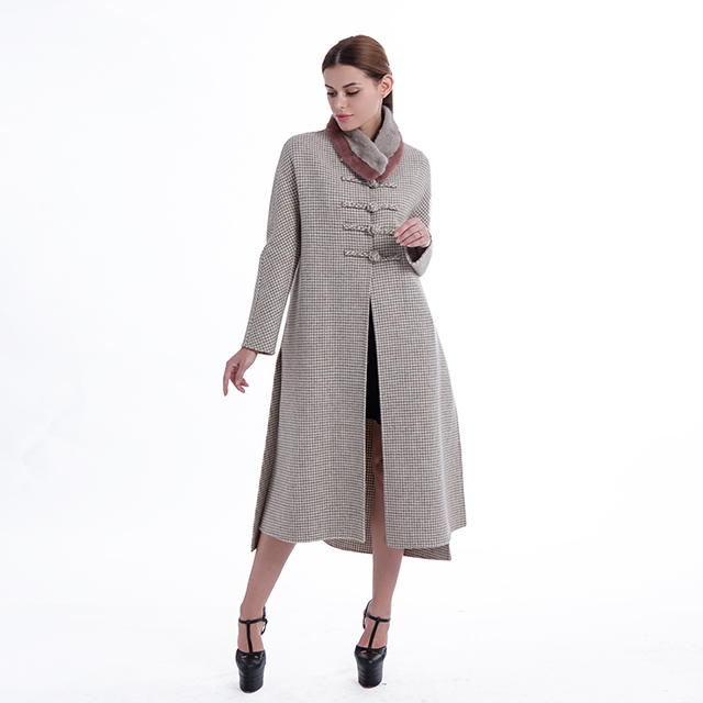 Retro cashmere overcoat