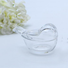 Crystal Glass Small Bird Shaped Glass Jar