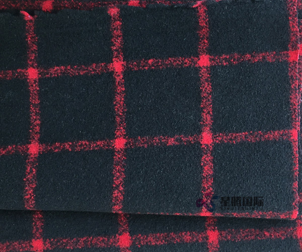 Double Face Checked Woolen Textile