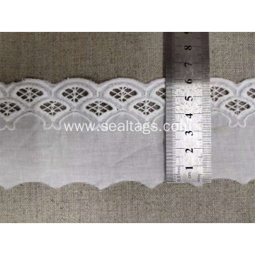 White Swiss High Quality Cotton&Nylon Net Lace Trim
