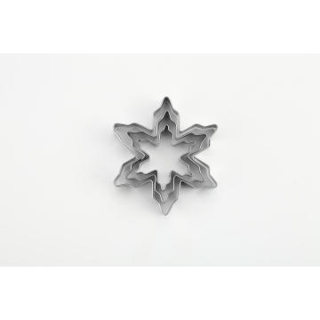 3pcs snowflake shape cookie cutter set