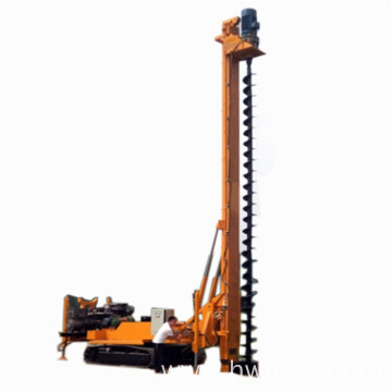 360 degree rotating spiral pile driver