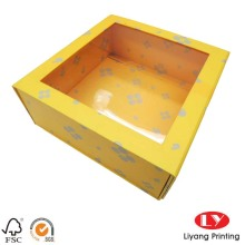 Design paper packaging gift box with window