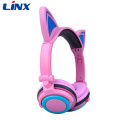 Light Up Cat Headphones per telefono cellulare