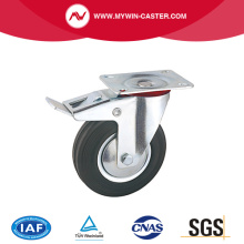 Braked Plate Swivel Rubber Industrial Caster