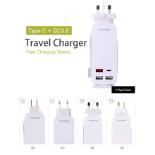 Travel Charger Adapter With US/EU/UK/AU Plug