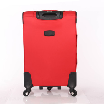 PU leather spinner wheels trolley luggage