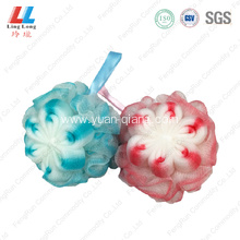 Smooth goodly flower body bath sponge ball