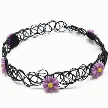 China for Factory of Tattoo Choker, Tattoo Choker Diy, Black Tattoo Choker from China Women Fashion Necklace Resin Daisy Tattoo Choker Necklace supply to Greenland Factory