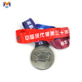 Silver metal bodybuilding awards medal
