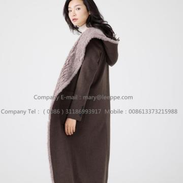 Water Wavy Cashmere Overcoat For Women
