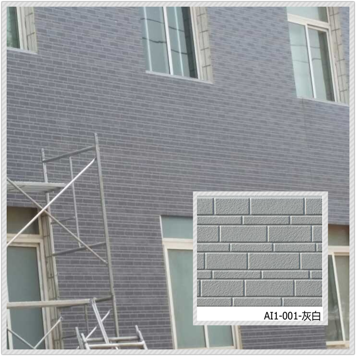 Brick exterior insulated decorative sandwich panels
