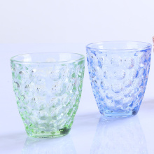 Handmade Glass Tumbler With Bubble Pattern Design Glass Cup