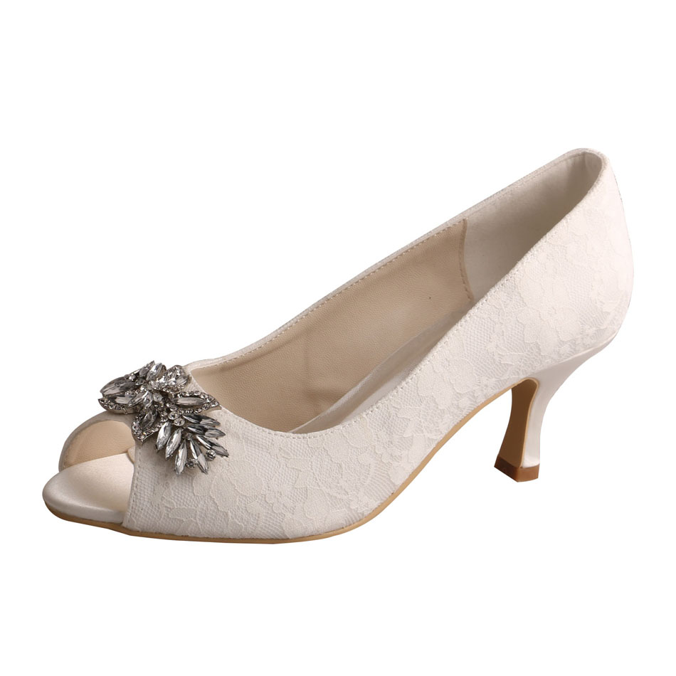 Lace Ivory Wedding Shoes