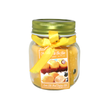 Gold Scented Paraffin Pillar Glass Candle