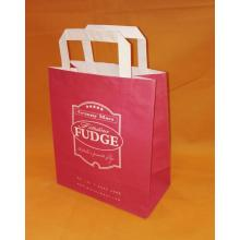 paper bag with flat handle