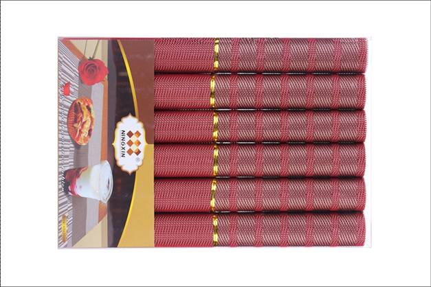 Family restaurant six pieces of PVC table mat decoration shop