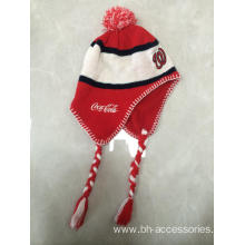 Customized for Embroidery Knitting Hat Jacquard  Knitting Ear Muff Winter Hat export to Suriname Manufacturer