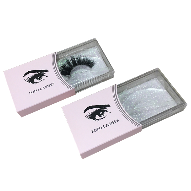 Wholesale Custom Eyelashes Box Pink Sleeve China Manufacturer