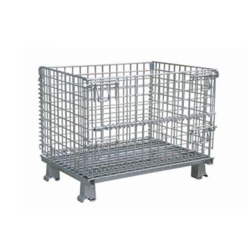 Foldable And Stackable Pallet Mesh Container
