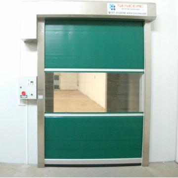 PVC curtain roll up fast speed door