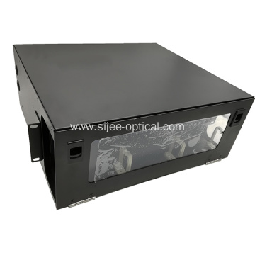 144 Fibers 4U ODF Rack Mounted High Density Fiber Enclosure / Cassette