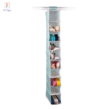 Factory wholesale 10 layers wall closet underwear hanging organizer shelf