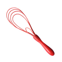PP handle custom novelty silicone flat egg whisk