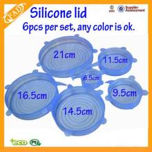 Flexible Silicone Stretch Lids Keep Fresh Can Microwave