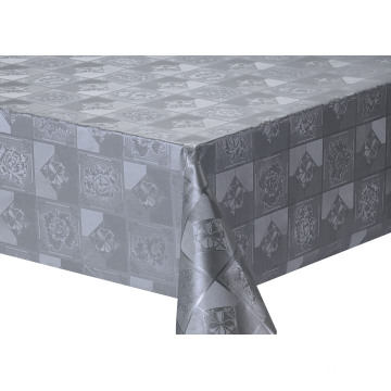 Solid Embossed Fabric Tablecloth Covers