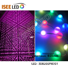 Professional for 3D Led Night Light New 20mm Diameter WS2811 LED Ball Light String export to South Korea Exporter