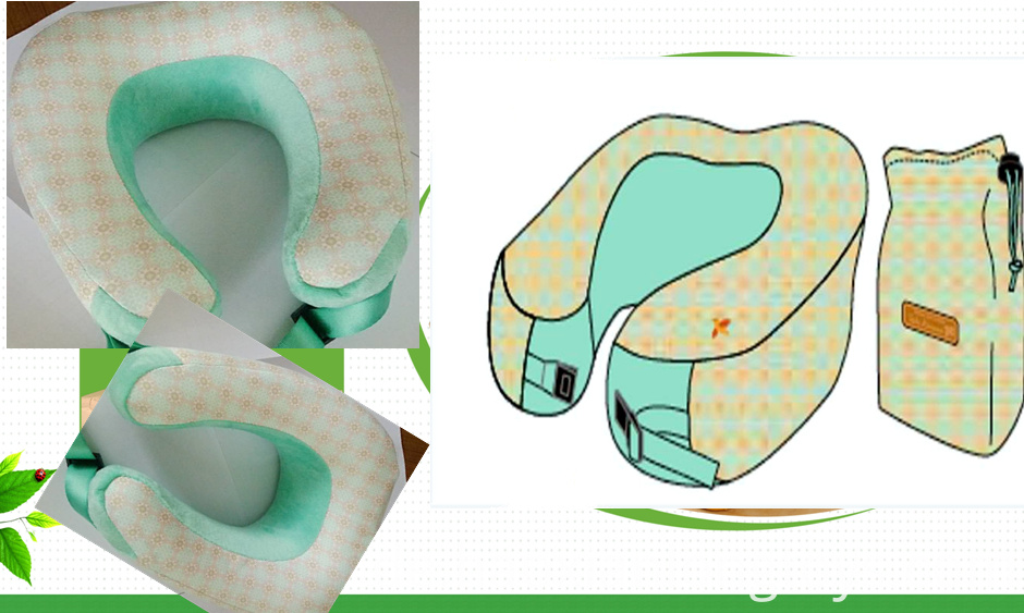 Printed U-shaped travel pillow
