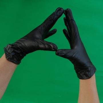 Black  Vinyl Gloves