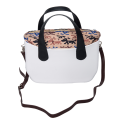 White hobo travel designer shoulder crossbody handbag