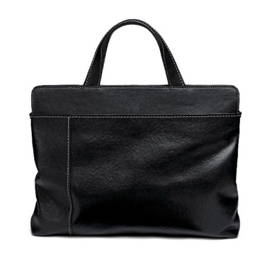 Leather Business Travel File Document Briefcase Portfolio Bag