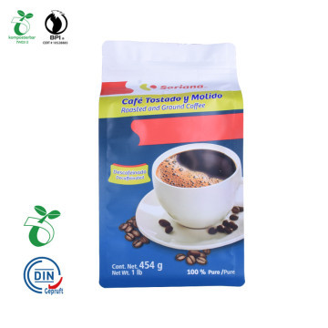 Industrial Degradability Cornstarch Square Bottom Coffee Packaging