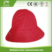 Red Color PU rain hat