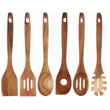 Wooden cooking tools set