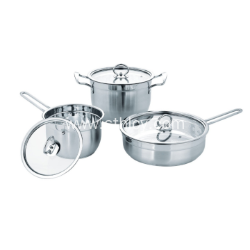 Hindi kinakalawang na asero Double Bottom Thickening Cookware Set