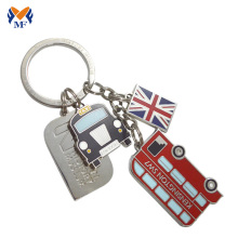 Metal bus shape keychain for london souvenir