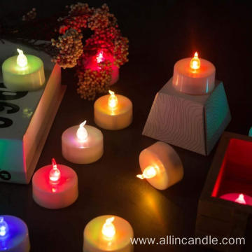 Round led candle/electric candles/mini led tea light candle