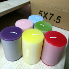 5x7.5cm colored pillar candle